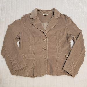 BOGO Free🦋 St. John's Bay Tan Corduroy Blazer Style Jacket